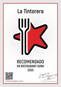 Certificado Restaurante Guru